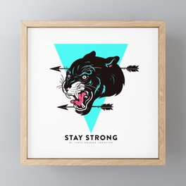 Stay Strong Panther Framed Mini Art Print