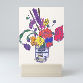 Flowers (Fauvism/PopArt) Mini Art Print