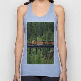 BNSF Going Over Goat Lick Creek Unisex Tank Top