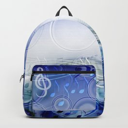 Abstract sheet music design background with musical notes Backpack