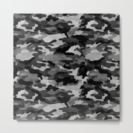 Camouflage (Gray) Metal Print