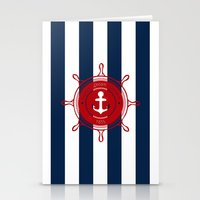 nautical Stationery Cards featuring Nautical by Kathe Gravel