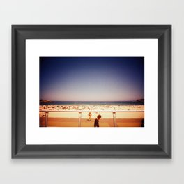 a bondi summer day Framed Art Print