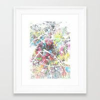 paris map Framed Art Prints featuring paris map by Nicksman