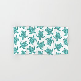 Save The Turtles in Teal Hand & Bath Towel