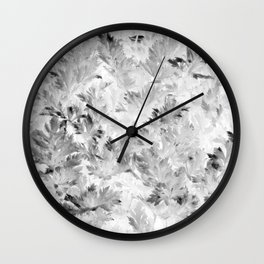 Black and White Parsley Foliage Wall Clock