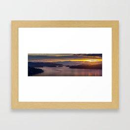 Pastel Sunrise Framed Art Print