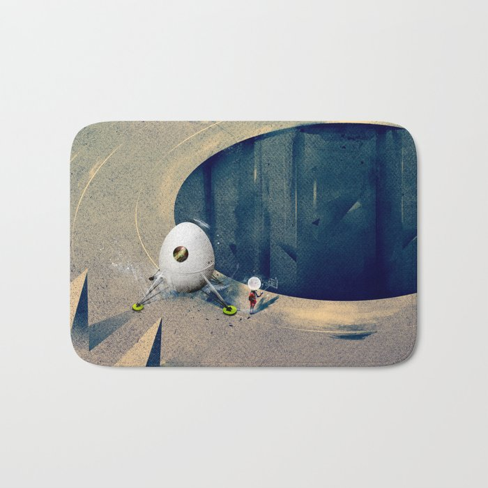 "Lunarize ""Big Hole"" Print Bath Mat"