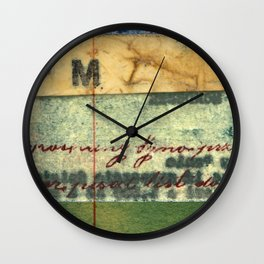 M Stripe Wall Clock