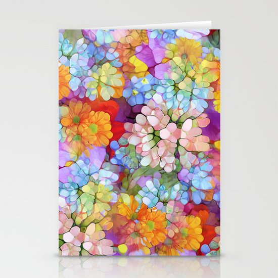 Rainbow Flower Shower Stationery Cards