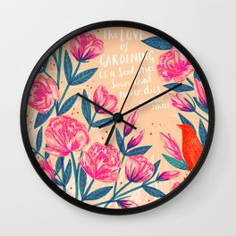 A Love of Gardening Wall Clock