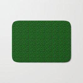 Binary Green Bath Mat