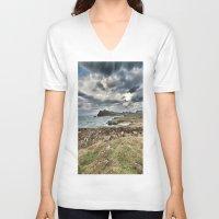 ruben ireland V-neck T-shirts featuring Ireland Calls by Christine Workman