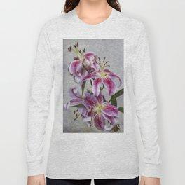 Pink Lillies Long Sleeve T-shirt