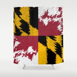 Extruded flag of Maryland Shower Curtain
