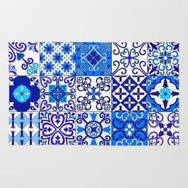 Moroccan Tile islamic pattern Rug