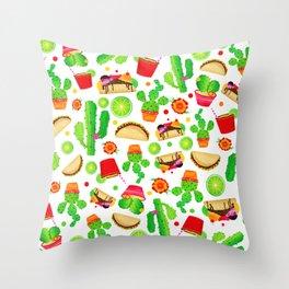 Fiesta Tacos Throw Pillow