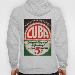 Vintage Cuba Soft Drink Poster Hoody