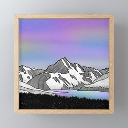 Aoraki Mount Cook Framed Mini Art Print
