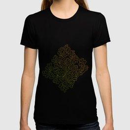 Green Yellow Grunge Leaves T-shirt