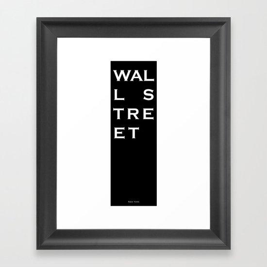 Wall Street - New York Framed Art Print