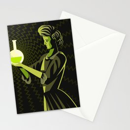 marie curie radioactive experiment Stationery Cards