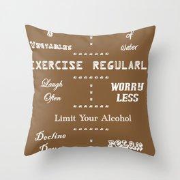 Secrets to a Long Life Throw Pillow