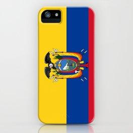 Flag of Ecuador -ecuadorian,Inca,Kichwa,Quito,america, South america,Spanish,Amazonia,latin america iPhone Case