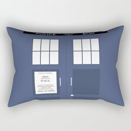 Smaller On The Outside Tardis Rectangular Pillow