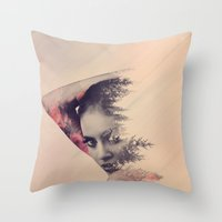 virginia Throw Pillows featuring virginia by Peg Essert