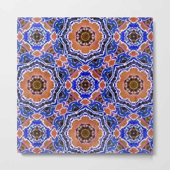 Tiled Kaleidoscope Mandalas Metal Print