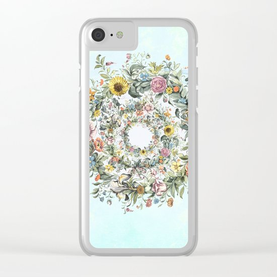 Circle of Life Blue Clear iPhone Case