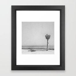 Cactus - Grayscale Framed Art Print