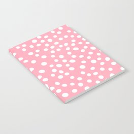 Bright pink and white doodle dots Notebook