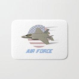 American Air Force F35 Jet Fighter Bath Mat