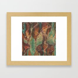 Ecstatic Pelvis (Meat Flame) Framed Art Print