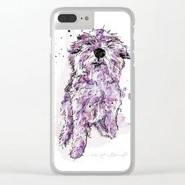 Purple Dog Clear iPhone Case