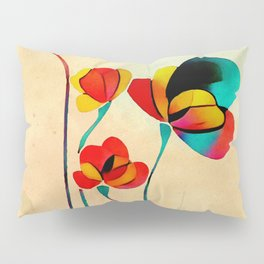 Exotic Watercolor Flower Pillow Sham