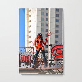 Devil Woman Las Vegas Strip America Metal Print