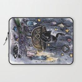 Black cat, magic illustration Laptop Sleeve
