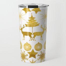 Gold Christmas 04 Travel Mug