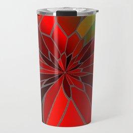 Abstract Poinsettia Travel Mug