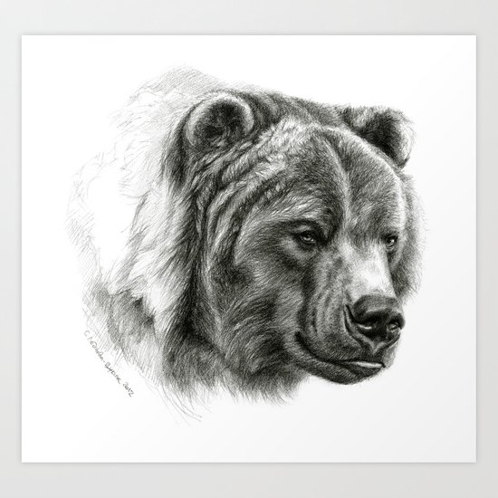 Brown Bear G2012-054b  Art Print