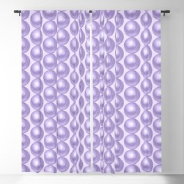 Pastel purple pearls background Blackout Curtain