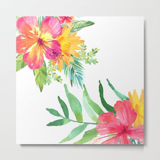 Vintage flowers in color Metal Print