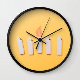 Lighters Wall Clock