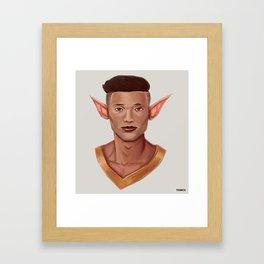 Chad, the Karate Elf Framed Art Print