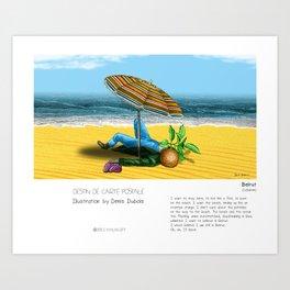 """""""Beirut"""" in words & image (Denis Dubois) Art Print"""