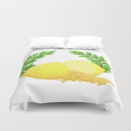 When Life Gives You Lemons, You Paint That **** Gold Duvet Cover