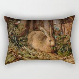 A Hare In The Forest Hans Hoffmann Rectangular Pillow